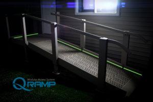 ADA Wheelchair Ramp Edmonton - Photo-luminescent side rails