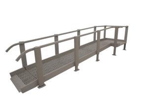 ada wheelchair ramp Edmonton - clean design
